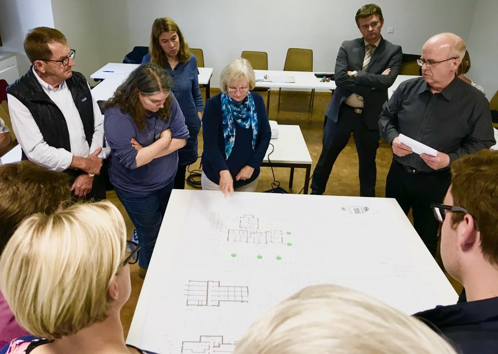 Information und Austausch in der Bürgerkammer.