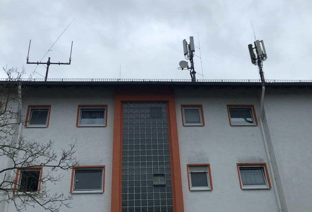 Mobilfunksender im Ahornweg.
